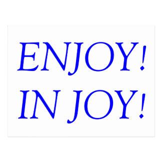 楽しむ!  喜び! ポストカード