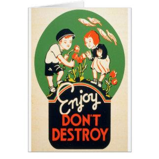 楽しむ、破壊しないで下さい カード