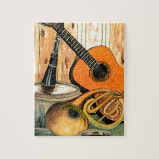 楽器が付いている静物画 ジグソーパズル