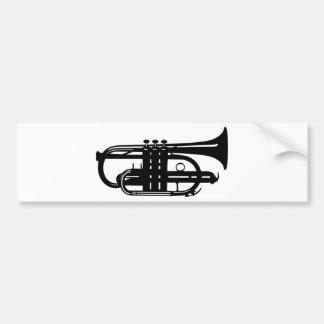 楽器のコルネット-ミュージシャン バンパーステッカー