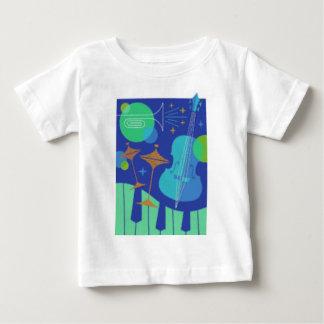 楽器のデザイン ベビーTシャツ