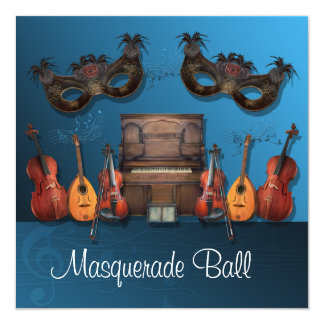 楽器の仮面舞踏会の招待状 カード
