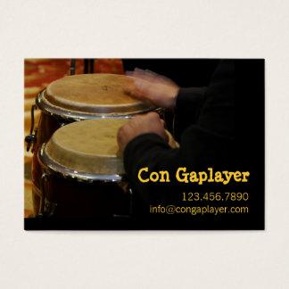 楽器のcongaplayerの手 名刺