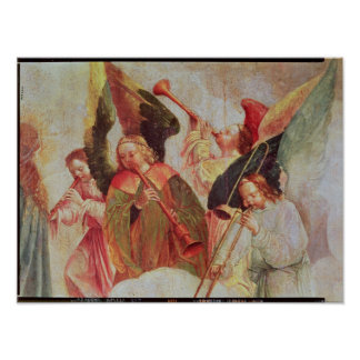 楽器を演奏する4つの天使 ポスター