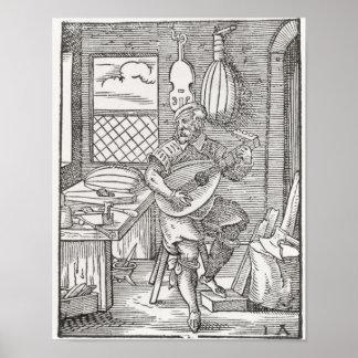 楽器メーカーの研修会、c.1570 ポスター
