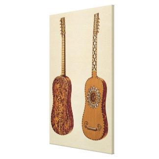 「楽器(coloureからのRizzioのギター、 キャンバスプリント