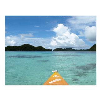楽園でカヤックを漕ぐこと ポストカード