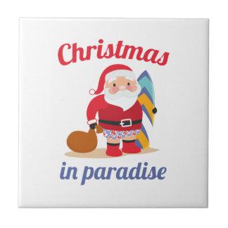 楽園のクリスマス タイル