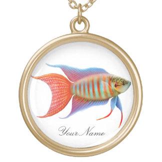 楽園のグラミーの魚のネックレス ゴールドプレートネックレス