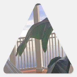 楽園のハンモック 三角形シール