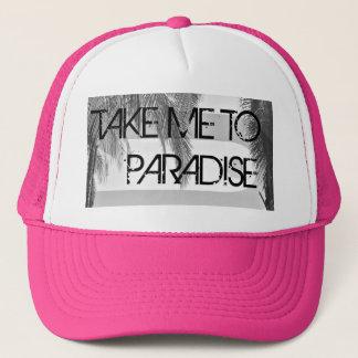 楽園のピンクの女性のトラック運転手の帽子に私を連れて行って下さい キャップ
