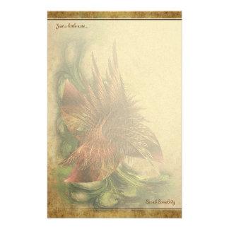楽園のフラクタルの花のNotepaper 便箋
