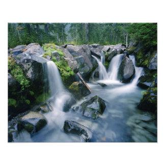 楽園の入り江の流れは山の傾斜します フォトプリント