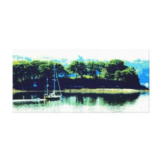 楽園の包まれたなキャンバスの航海 キャンバスプリント