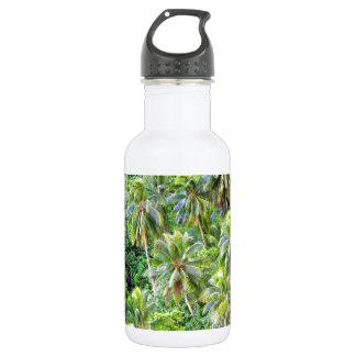 楽園の島のココヤシの木 ウォーターボトル