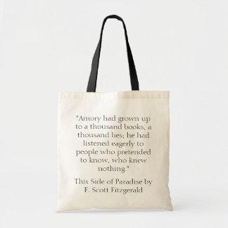 楽園の引用文のトートのこの側面 トートバッグ