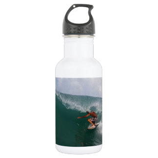 楽園の海岸のグリーン・ウェーブのバレルのサーフィン ウォーターボトル