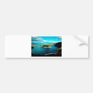 楽園の火山噴火口湖 バンパーステッカー