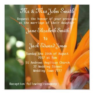 楽園の熱帯結婚式招待状の情熱 カード