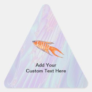 楽園の魚 三角形シール