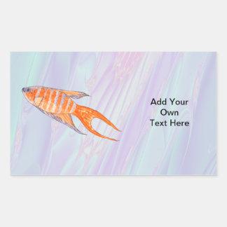 楽園の魚 長方形シール