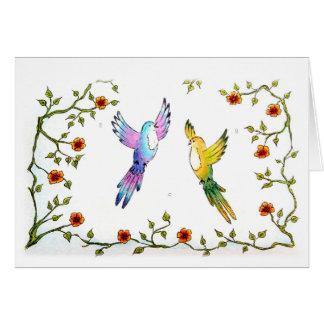 楽園の鳥愛挨拶状/バレンタイン カード