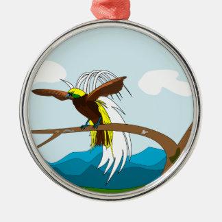 楽園の鳥 メタルオーナメント