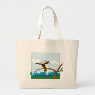 楽園の鳥 ラージトートバッグ
