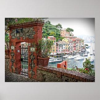 楽園への出入口- Portofinoのイタリアポスター ポスター