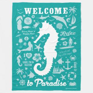 楽園への歓迎 フリースブランケット