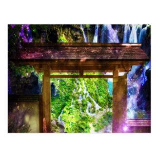 楽園への虹の宇宙の細道 ポストカード