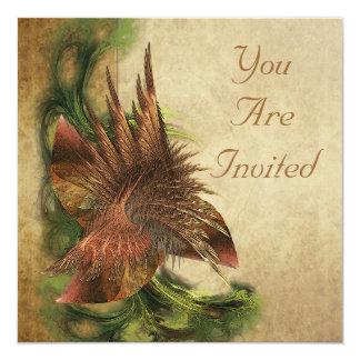 楽園花のフラクタルの招待状 13.3 スクエアインビテーションカード