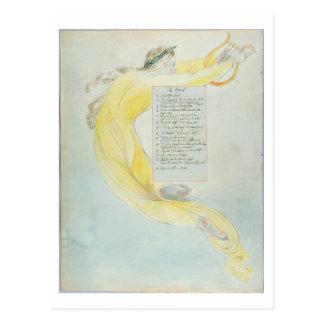「楽師」は、「トマスGrの詩からの52を設計します ポストカード