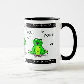 楽譜が付いているホップの豊富な誕生日のFroggy マグカップ