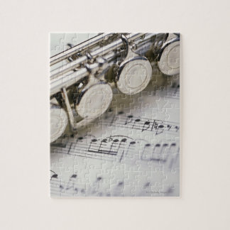 楽譜のフルート ジグソーパズル