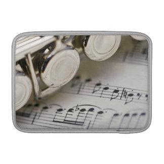 楽譜のフルート MacBook スリーブ