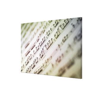 楽譜2 キャンバスプリント
