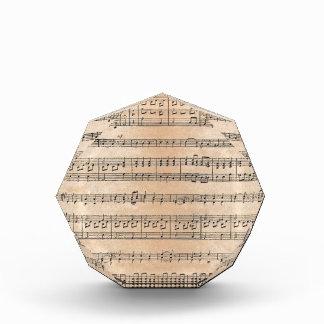 楽譜 表彰盾