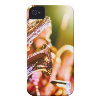 楽隊音楽の楽器のサクソフォーンの角 Case-Mate iPhone 4 ケース