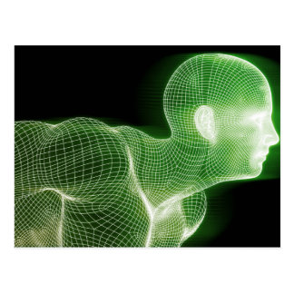 概念としてフィットネスの技術科学のライフスタイル ポストカード