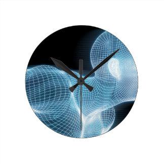 概念としてフィットネスの技術科学のライフスタイル ラウンド壁時計