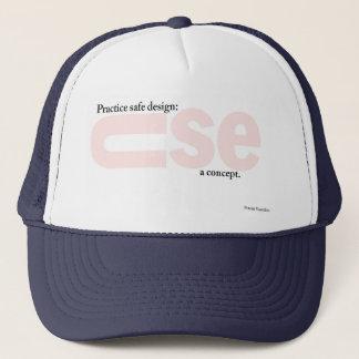 概念のトラック運転手の帽子を使用して下さい キャップ
