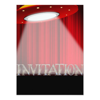 概念的なエイリアンUFOの驚きのパーティの招待状 カード