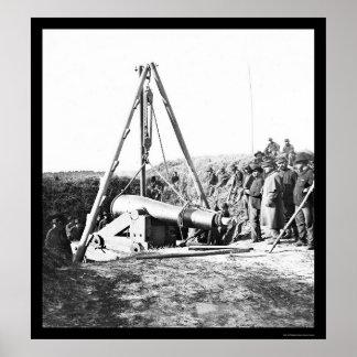 概要のためのシャーマン1864年銃を取除いているエンジニア ポスター