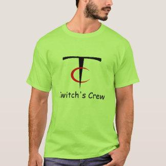 概要の単収縮の乗組員のワイシャツ Tシャツ