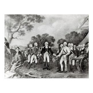 概要のBurgoyne Saratoga降伏 ポストカード