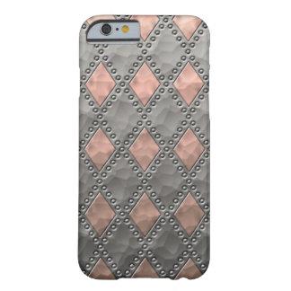 槌で打たれた銅および錫の一見のダイヤモンド iPhone 6 ベアリーゼアケース