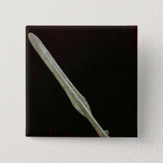 槍ポイント、弥生時代、200 BC-AD 100 5.1CM 正方形バッジ