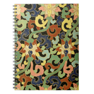 様式化されたアイリス花模様 ノートブック