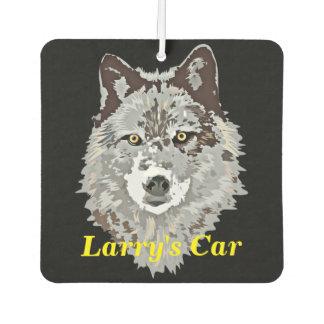 様式化されたオオカミの頭部 カーエアーフレッシュナー